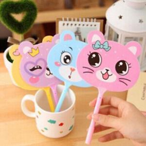 2pcs-Kawaii-fan-plastic-ball-point-pen-cartoon-animal-ball-pens-stationeryBC-JYT