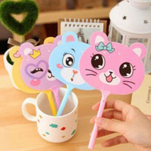 2pcs Kawaii fan plastic ball point pen cartoon animal ball pens stationery~GN