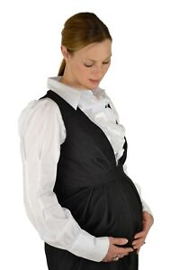e0a9f89b39f07 Crave white maternity shirt/ white office maternity shirt size 10 with  frill ...