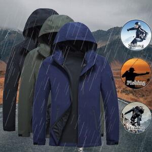 Men-039-s-Jacket-Waterproof-Tactical-Zipper-Coat-Soft-Shell-Outdoor-Jackets-Outwear