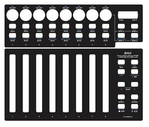 Overlay-schwarz-fuer-Behringer-BCF2000-in-Mackie-Baby-HUI-emulation-mode