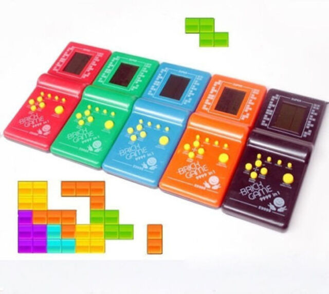 Classic Vintage LCD Electronic Handheld Tetris Brick Game Console Toys YA