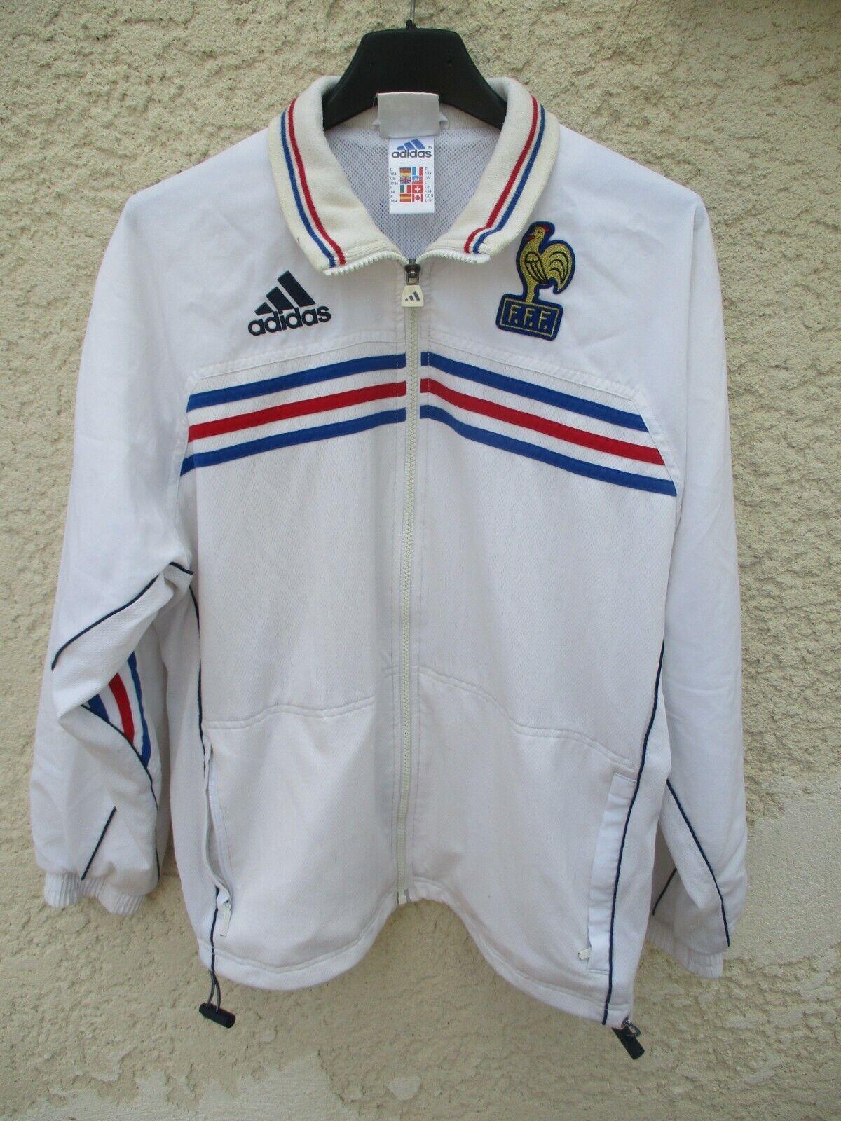 Veste EQUIPE DE FRANCE Coupe du Monde 1998 ADIDAS vintage Zidane jacket 164 14 a