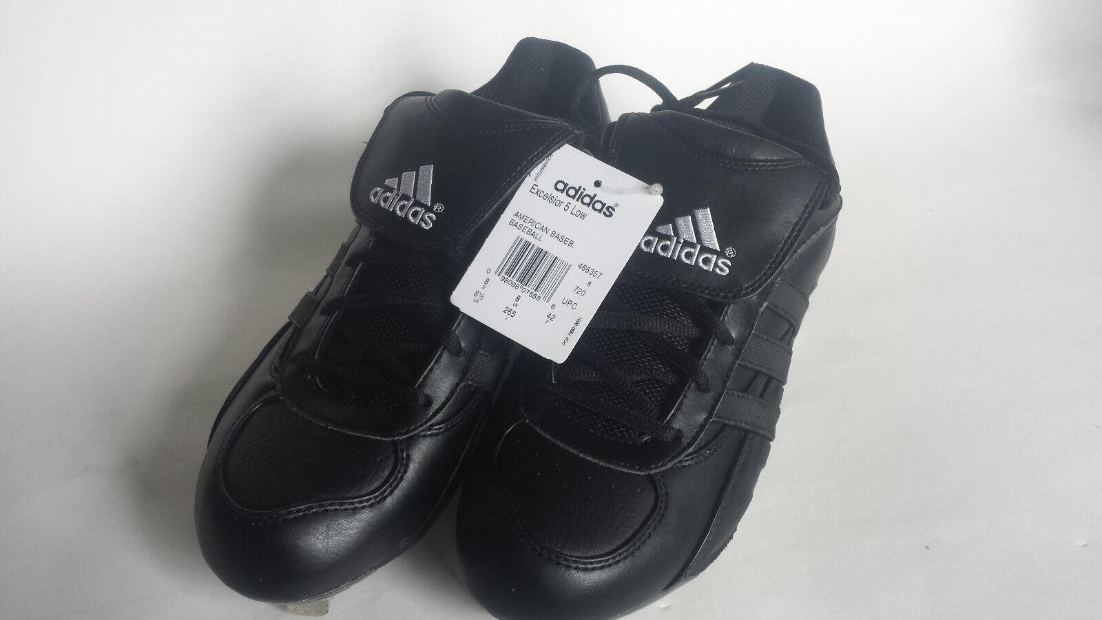 Brand New Mens Baseball Black/Black/Sil Adidas Excelsior 5 Low Metal Baseball Mens Cleats 8.5 9e1a40
