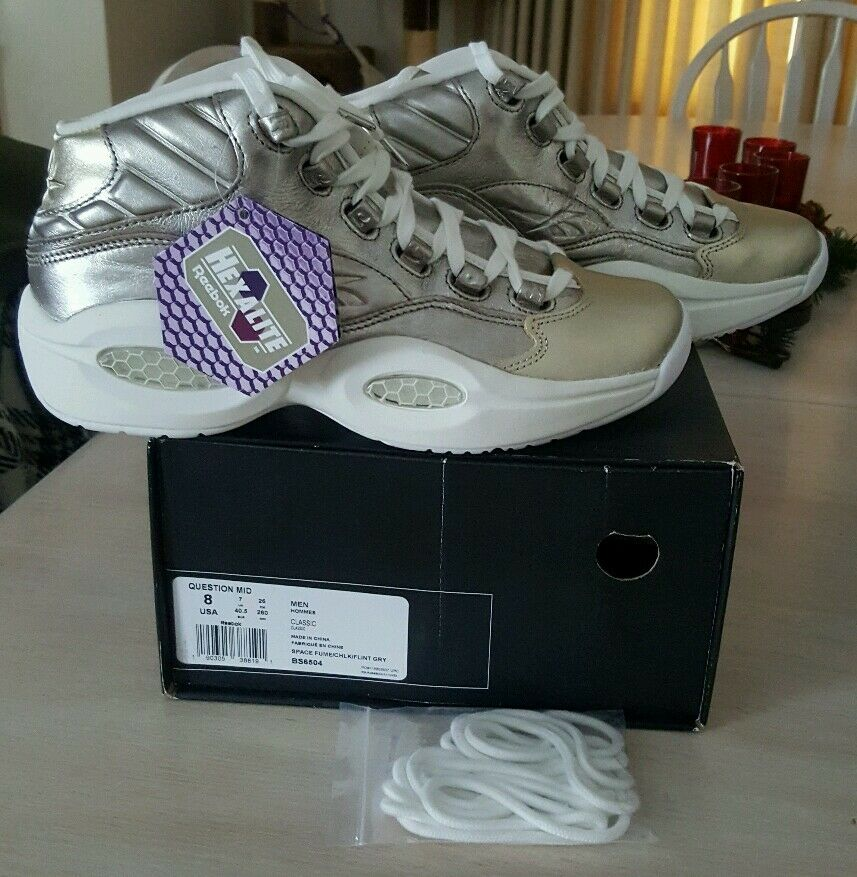 REEBOK QUESTION MID CELEBRATE IVERSON DS SZ 8 US HALL OF FAME 115 PAIRS MADE