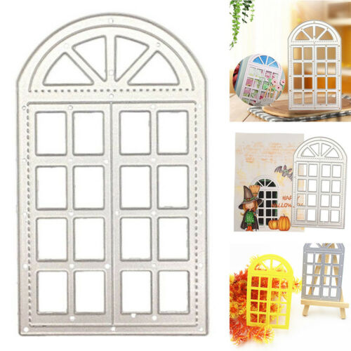 DIY Metal Cutting Die Stencils Clear Stamps For Scrapbooking Home Window Frame