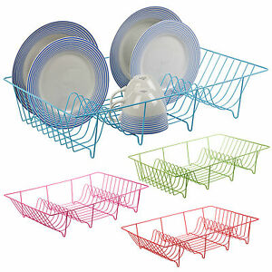 Metal-Wire-Coated-Dish-Rack-Kitchen-Sink-Drainer-Washing-Up-Draining-Holder-Tray