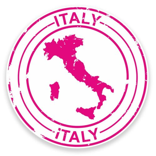 2 x Italy Vinyl Stickers Laptop Travel Gift Luggage Car Suitcase Italian #9210