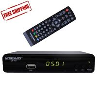 Analog-to-digital Tv Television Converter Box W/ Dvr Recording + Remote Control