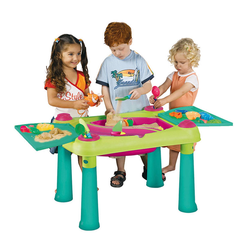 Keter Creativ Play Spieltisch Kreativtisch 2 2 2 Hocker Maltisch KInder Sand Wasser e7f751