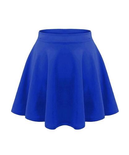 Kids Skater Skirt Girls High Waist Swing Flared Stretch School Mini Skirt