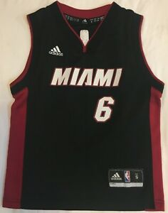 Details about NBA #6 JAMES Adidas Miami HEAT Jersey Youth Size Small Used #3357