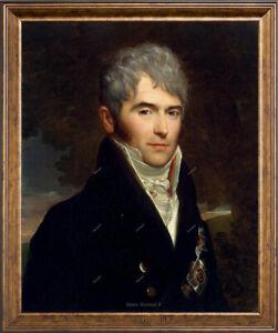 "Old Master Art Man Portrait Gentleman Viktor Oil Painting Canvas Unframed 24x30"""