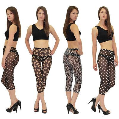 Sale Offerta Donna Capri Leggings Legging Legging Trasparente Gogo Style L20-mostra Il Titolo Originale Funzionalità Eccezionali