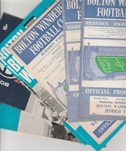 2018//19 BOLTON HOME PROGRAMMES CHOOSE FROM