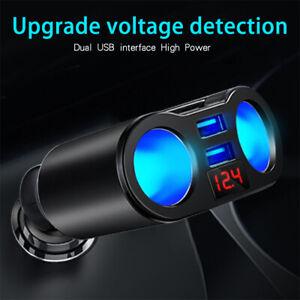 Dual-USB-Charger-2Way-Car-Cigarette-Lighter-Socket-Splitter-Adapter-DC-5V-3-1A-Z