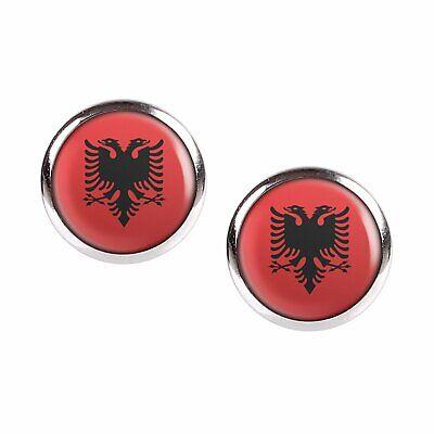 Albanien Albania Gold dünne Kette Anhänger Ohrringe Ohrstecker Adler Doppelkopf