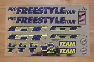 Chrome Backing Reproduction 1995 GT Performer BMX Decal Set
