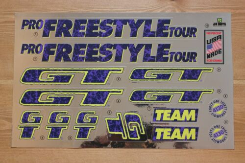 Chrome Backing Reproduction 1992 GT Pro Freestyle Tour BMX Decal Set