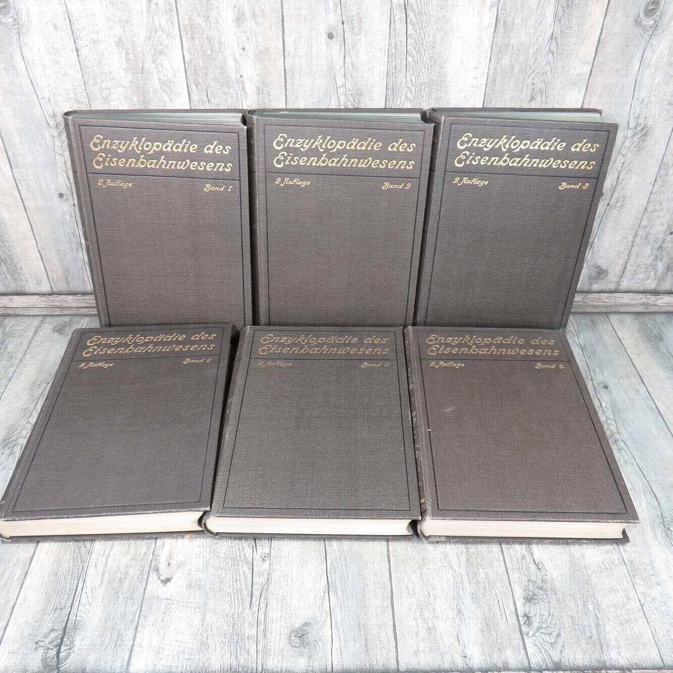 Enzyklopädie des Eisenbahnwesens Band 1 bis 6 -  A41