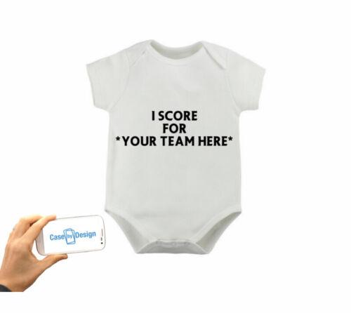 CARLISLE PERSONAL FOOTBALL BABYGROW DADDY SON GRANDAD NAME NUMBER 3 6 9 Months