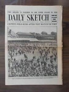VINTAGE-NEWSPAPER-DAILY-SKETCH-AUGUST-19th-1926-ENGLAND-WIN-BACK-CRICKET-ASHES