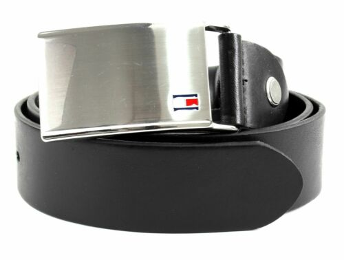 Tommy Hilfiger Th plaques Belt 3.5 w105 ceinture Accessoire Black Noir Neuf