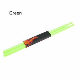 1-Pair-5A-Lime-Green-Plastic-Stick-Drum-Sticks-Fitness-Exercise-Drumsticks-4-oz