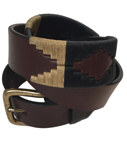 """100/% Argentine Embroidered Leather The Best Quality /""""Pampa 2/"""" Polo Belt"""