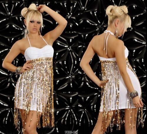 X-TReM sexy STreTch MINIKLEID KLEID mit PaiLLeTTeN ~  Party Club  KLEID  34  36
