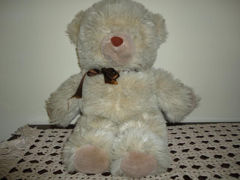 Unique Shaggy Teddy Teddy Shaggy Bear w Eyes on Nose c73467