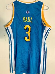 size 40 158f7 d63fe Details about Adidas Women's NBA Jersey New Orleans Hornets Chris Paul Teal  sz L