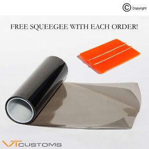 30-x-60cm-Medium-Smoke-Headlight-Tinting-Film-Fog-Vinyl-Lights-FREE-SQUEEGEE
