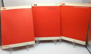 IBM-Lot-of-3-PL-I-1960s-Programming-Course-Training-Guides-PL-1-Read-Desc
