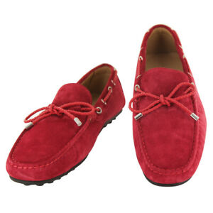 Fiori Di Lusso Rouge Daim Dentelle Conduite Chaussures - (51)