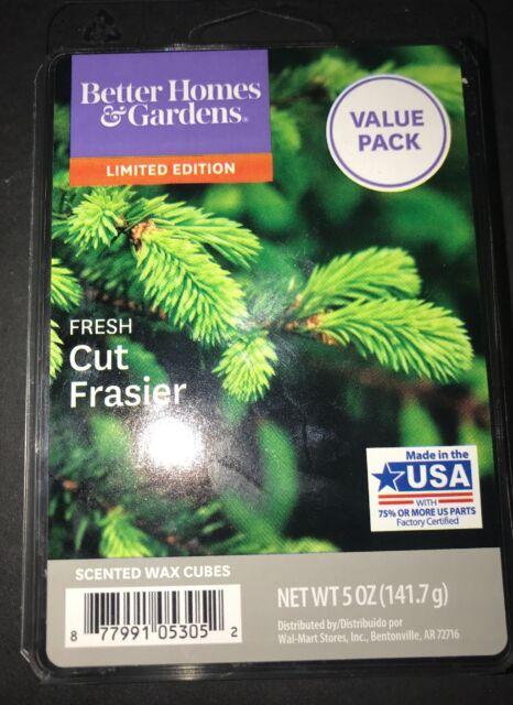 2 Packs Better Homes /& Gardens FRESH CUT FRASIER Scented WAX CUBES