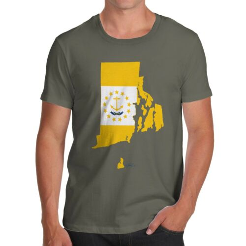 Twisted Envy Homme Rhode Island USA État Drapeau Premium T-shirt en coton