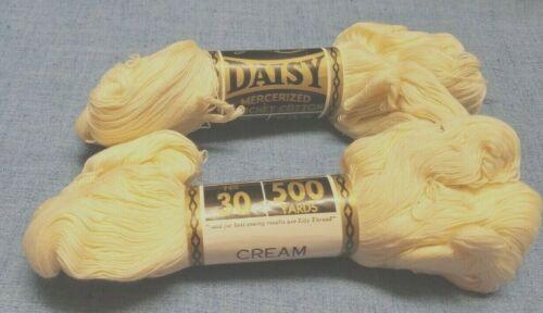 New Old Stock Made USA CROCHET THREAD Lily Daisy  Size 30 Cream 500 Yards!!