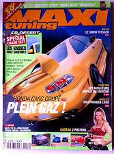 MAXI TUNING n°52 du 2/2001; Honda Civic Coupé/ Volkswagen Land/ Show Essen