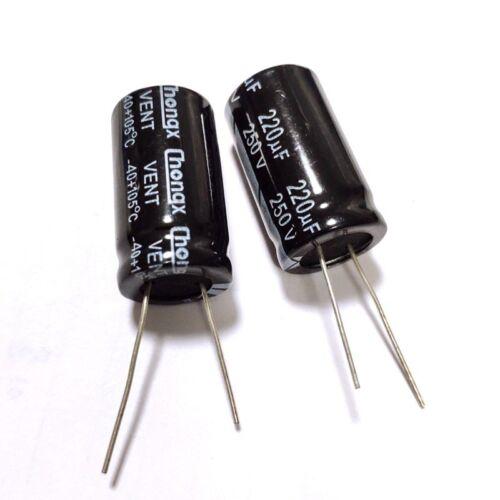 250V 47uF 250Volt 47MFD Aluminum Electrolytic Capacitor 1uF~2200uF 16Values