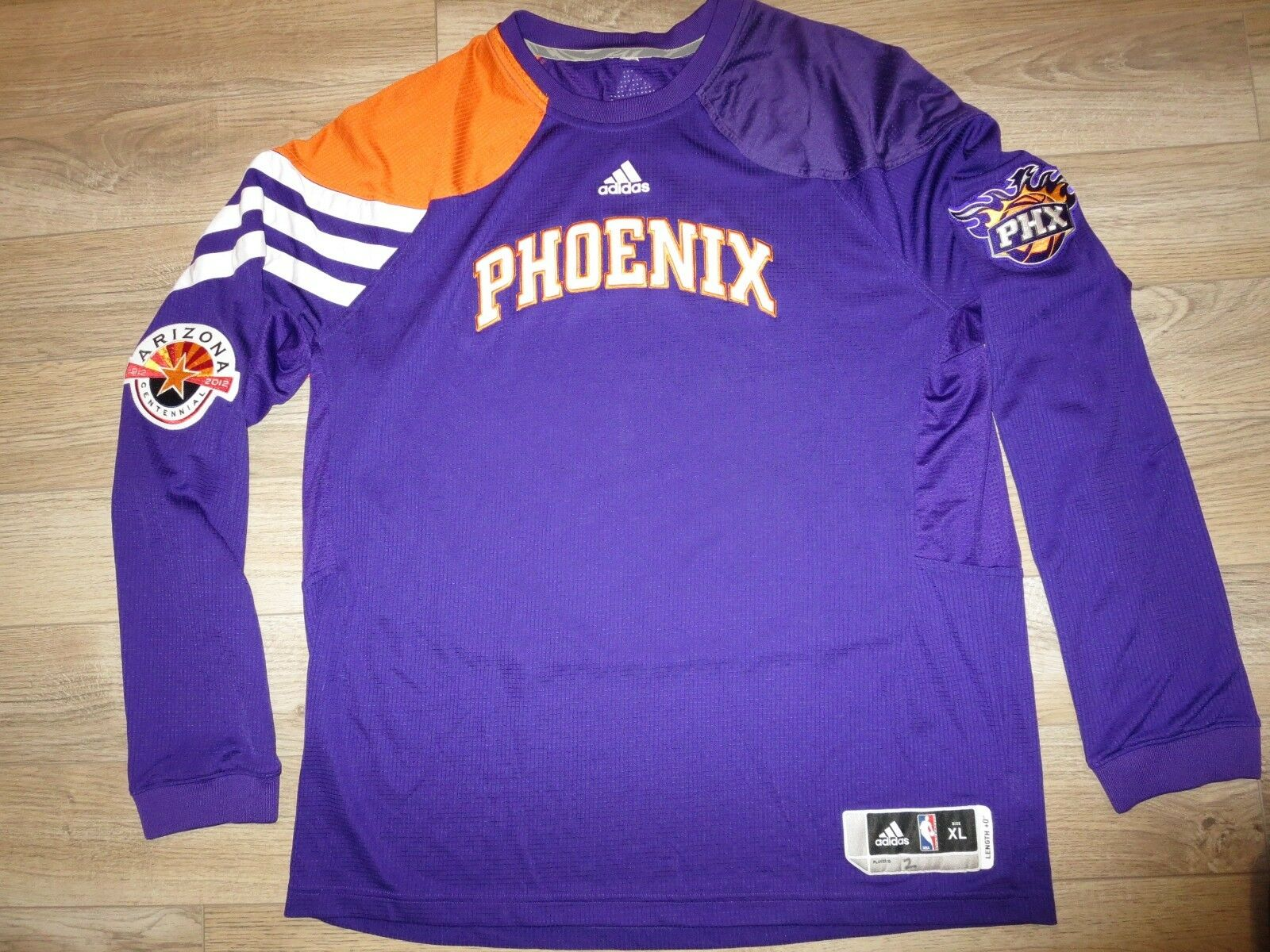 Ronnie Price  2 Phoenix Suns NBA 2012 game worn ADIDAS Pregame Jersey XL