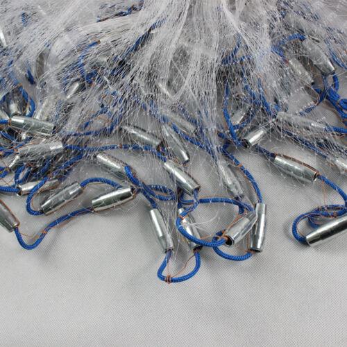 22Ft 6.6M Wurfnetz Fischernetz Fisch Gussnetz Abfischen Multifilament Durable DE