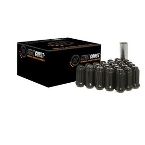 32-Black-West-Coast-Wheel-Accessories-Spline-Locking-Lug-Nuts-14x2-14-2