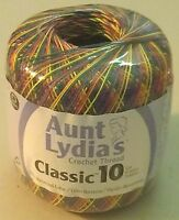 Aunt Lydia's Classic 10 Crochet Thread Mexicana Variegated 300 Yds N I Pack