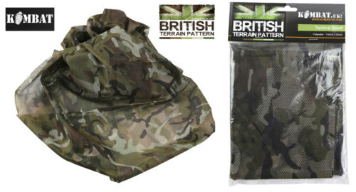 Mens Army Combat Military Snood Neck Scarf Sniper Wrap Head Shemagh BTP Camo New