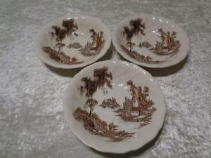 3X-Ceramica-Platos-de-Sopa-Johnson-Bro-The-Antiguo-Mill-Inglaterra
