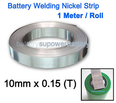 1m 10 W x 0.15 T Pure Ni plate Nickel strip tape for A123 26650 battery welding