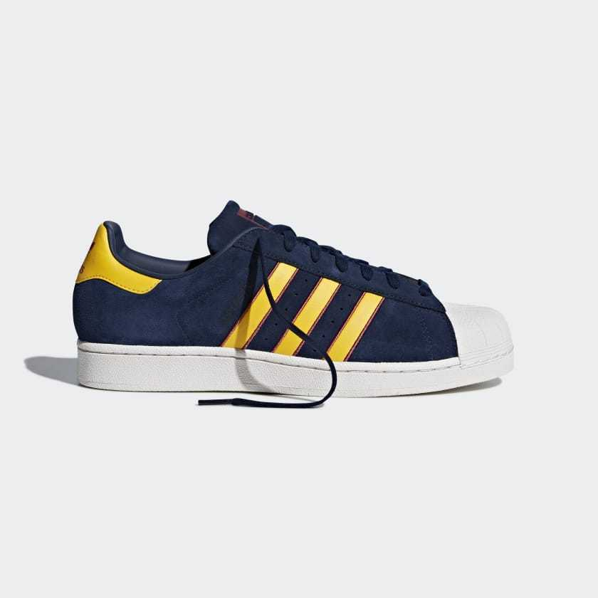 Adidas Originals Superstar Suede Navy & Yellow Sizes 6.5 - 9 Blue Red CM8080
