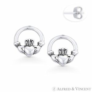 6512bc302 Image is loading Claddagh-Heart-Irish-Friendship-Loyalty-Charm-925-Sterling-