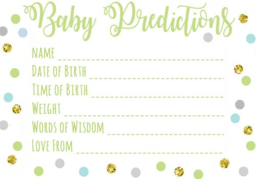 Prediction Pink Blue Glitter Effect New Mum To Be Baby Shower Games